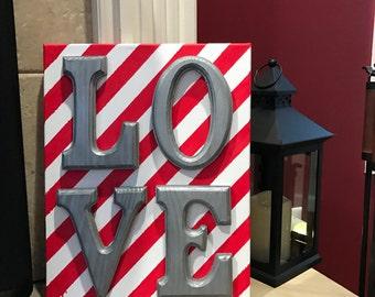 Valentine's Day Decor, LOVE Sign, Home Decor, Canvas Wall Art