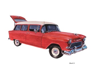 1955 Chevy Wagon Glass Delivered