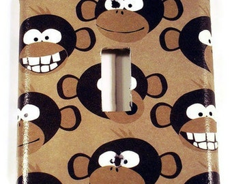 Switchplate Light Switch Cover Switch Plate  in  Monkey Business  (274S)