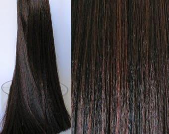 DARKEST BROWN Saran Doll Hair for Custom OOAK/Rerooting