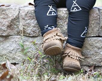 Teepee Leggings Tribal Print Hand Painted Childrens Leggings Custom Toddler Leggings Womens Leggings Bohemian Boho