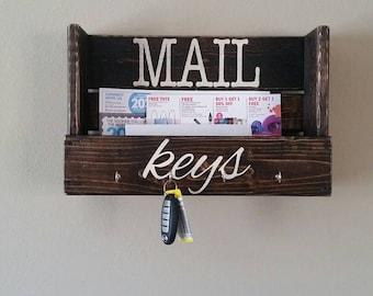 Mail and key organizer