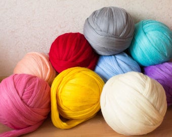SALE 6 lbs Supper Chunky Yarn Merino Wool 22 Microns 23 dollars per pound
