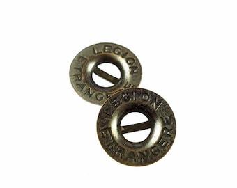 Metal buttons, LEGION ETRANGERE 17mm metal 15pcs