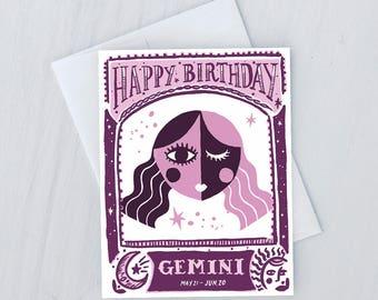 Gemini Birthday Card
