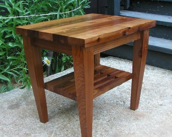 Modern Matching End Table For Modern Adirondack Chair Made From Redwood.