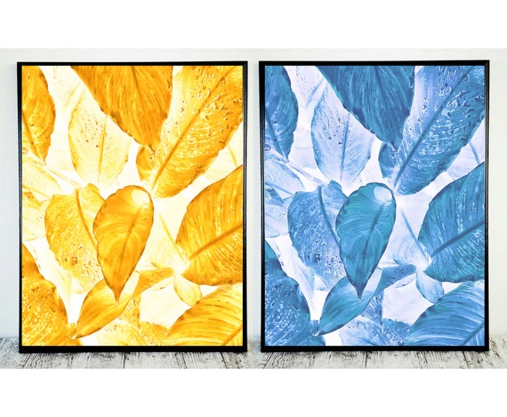 Blue and Yellow Wall Decor Bedroom Wall Decor Blue Wall