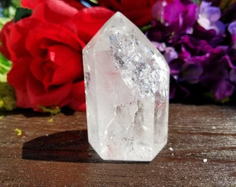 Fire and Ice Quartz | Rainbow Quartz Point | Generator Crystal | Crystal Generator Point | Clear Quartz | Healing Crystals | Wicca |