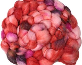 Anemone - hand-dyed superwash Merino, bamboo, nylon (4 oz.) combed top