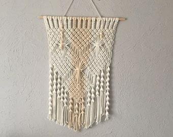 Macramé or macrame curtain