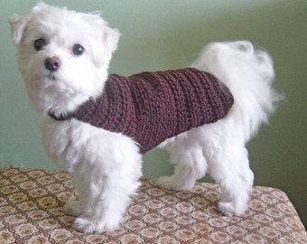 The Cary Dog Sweater Hand Crochet 100 Percent WOOL