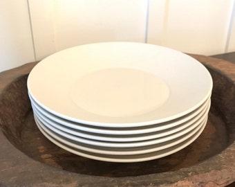 Vintage Homer Laughlin China Restaurant Ware Large White Pasta or Soup Bowls Set of 6