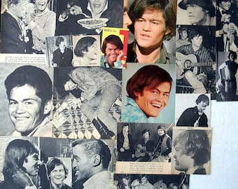 MICKY DOLENZ ~ The Monkees, Circus Boy, Last Train To Clarksville. Daydream Believer ~ Color and B&W Clippings from 1967-1974