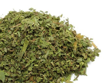 1lb Organic Dried Peppermint Leaf USA GROWN 8oz Bulk Wholesale Loose Mint Tea Cut Biodegradable Ecofriendly Mentha Piperita