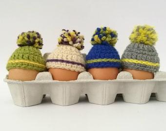 Easter egg cozy, Easter egg warmers, Easter egg ornament, Hats for easter eggs, Set of 4 easter ornaments, Easter breakfast table decor