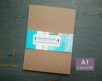 """25 A1 Kraft Flat Cards, Recycled Flat Cards, 100% recycled Flat cards, 3 1/2 x 4 7/8"""" or 3.5x5"""", 65-105lb, kraft or light brown"""