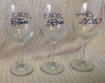 DIY Personalized Wine Glass Vinyl Decals Stickers  Make Your Own Wedding Glasses and Accessories