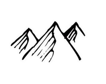 mountains rubber stamp mountain
