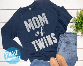 Mom of Twins, Mom of Twins Sweater,Blessed mama,Twin Mama, Mom of Boys tee, Mom of Girls, gifts for mom,Pregnancy announcement,