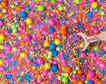 Sprinkle Mix, Troll mix, Sprinkles, Sprinkle Medley, rainbow sprinkles, Party sprinkles 2.5oz