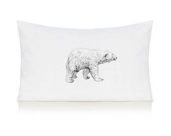 Polar bear pillow case, cushion, bedding, pillow cover