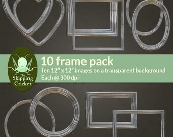 Chrome digital frames - heart, oval, square, round and rectangle digital frames - chrome digtal borders - contemporary design