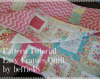 Easy Frames Quilt Tutorial, Use Charm Pack, Jelly Roll, Honey Bun