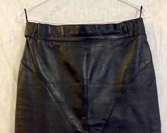 Vintage Leather Maxi Skirt (W 10/11)