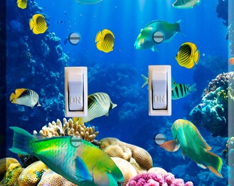 Light Switch Cover Coral Reef Wall Tropical Ocean
