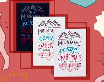 Mountains & Cathedrals Print