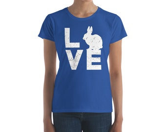 Rabbit T-Shirt - Cute Rabbit Shirt - Rabbit Tshirt - Bunny Shirt - Bunny T-Shirt - Bunny Top - Rabbit Lover Shirt