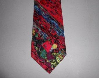 Mens Vintage Abstract Brioni Silk Tie Necktie