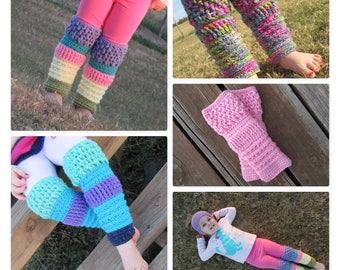 Leg Warmers/Little Girl Leg Warmers/Crochet Leggings/Toddler Leg Warmers/Ballerina Leg Warmers/Dance Leggings/Girls Dance Costume/Crochet