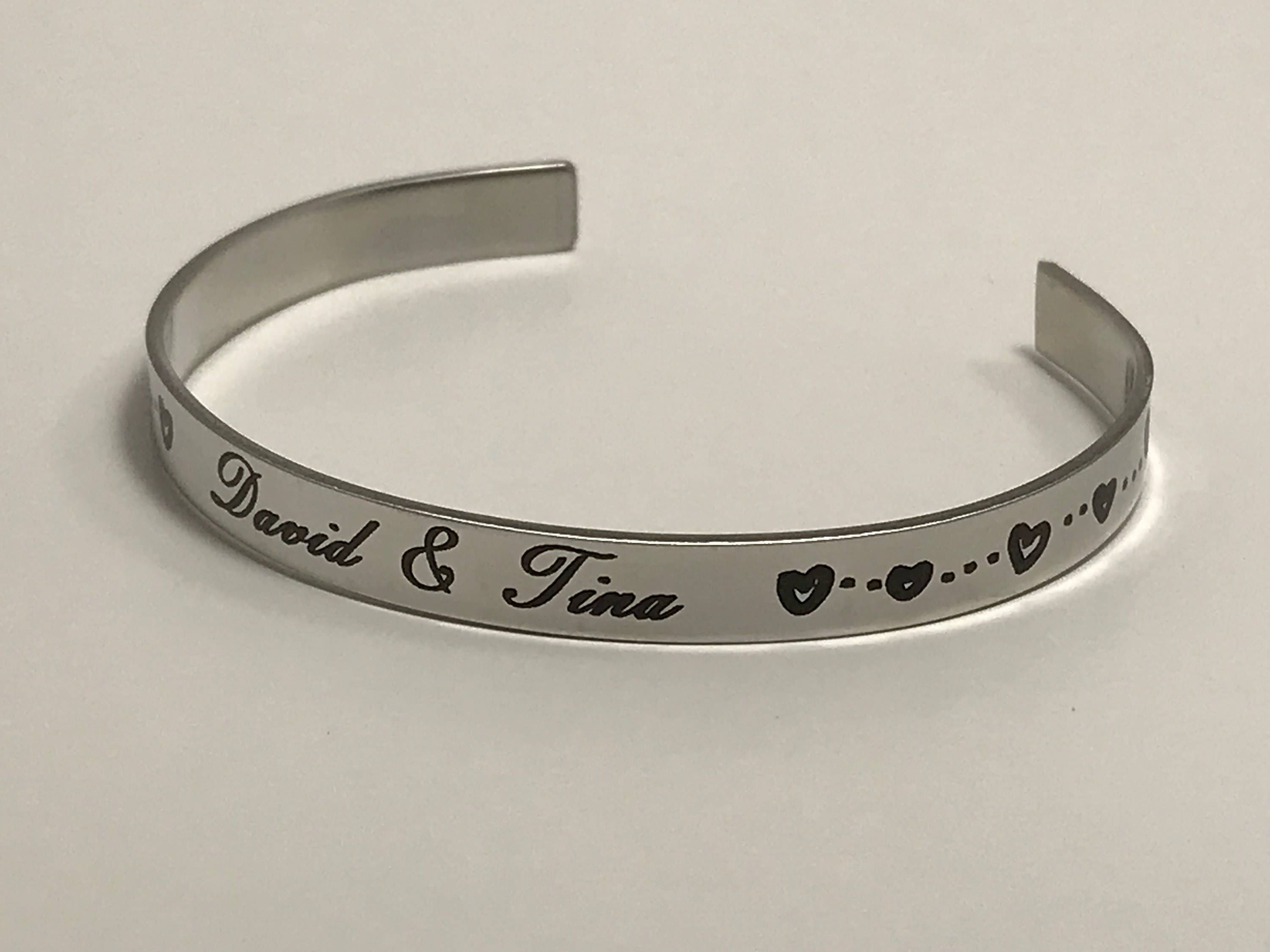 triple bangle name stamped bangles silver bracelet mothers bracelets intertwined intertwining personalized loading zoom