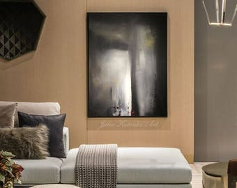 Large Abstract Oil Painting Large Wall Art Black and White Art Modern Art Original Painting Textured Art Abstract Painting by Julia Kotenko