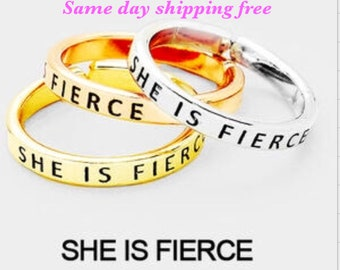 SHE IS PIERCE - inspiration ring ( only one ringchose primary color