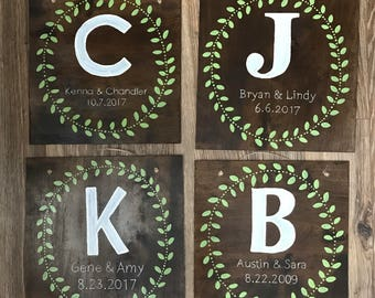 Personalized Wedding Gift Wall art Home decor wood sign
