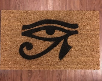 Eye of Horus (Egyptian Mythology) Inspired Decorative Doormat