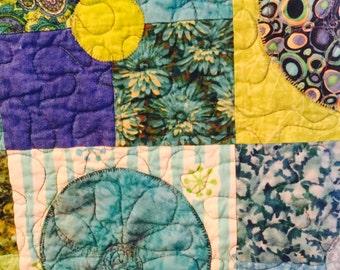 Sale! Quilt ,Lap Quilt, Patchwork  Quilt, new Worlds Quilt, Appliquéd Quilt, hand made reg 250.00 now 200.00