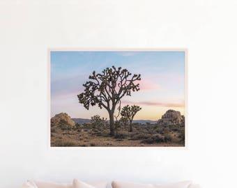 California Desert Print, Joshua Tree Wall Art Print Printable, Southwestern Art, Printable Home Decor Download, Cactus Art Photography d12cl