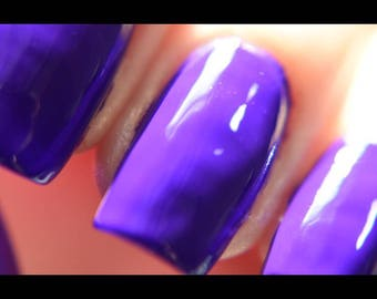 P.O.P Polish When Doves Cry Nail Polish Neon 80's Collection Purple Uv Reflective Blacklight Top Coat Lacquer