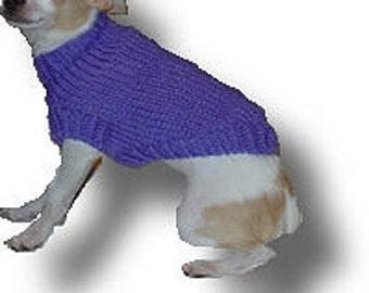 XXS Plain Dog Sweater Pattern