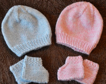 Baby Hat and Booties Sets