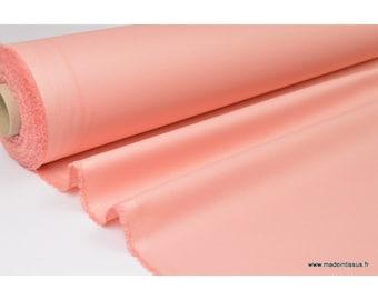 Pink waterproof coated gabardine fabric peach