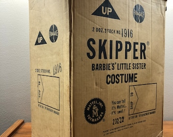 Skipper doll, original shipping box, Barbie Mattel, 1963, midcentury