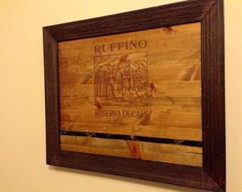 FREE Shipping    Wine Room Wall Art / Wine Decor    Tuscan (Italian) Winery  Reclaimed Wood Wall Piece