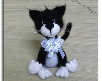 Amigurumi Gato Negro : Gato y crochet fútbol bola ooak rellenos animales de
