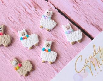 Alpaca Llama Earrings - Handmade Handcrafted Polymer Clay Studs