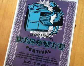SOUTHERN KITCHEN, BISCUIT Art, Biscuits and Gravy, Breakfast poster, retro kitchen decor, letterpress poster, vintage kitchen, kitchen art