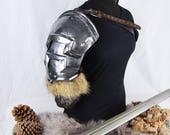 Norse fantasy steel shoul...